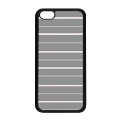 Horizontal Line Grey Pink Apple Iphone 5c Seamless Case (black) by Mariart