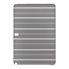 Horizontal Line Grey Pink Samsung Galaxy Tab Pro 12 2 Hardshell Case by Mariart
