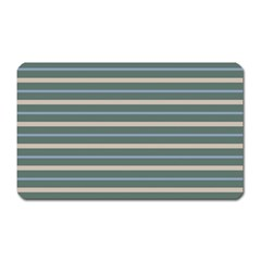 Horizontal Line Grey Blue Magnet (rectangular) by Mariart