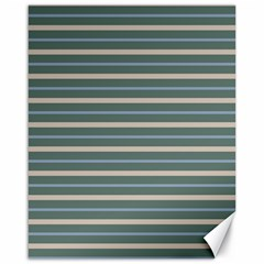 Horizontal Line Grey Blue Canvas 16  X 20   by Mariart