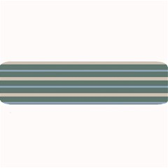 Horizontal Line Grey Blue Large Bar Mats by Mariart