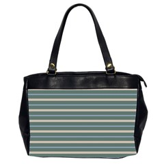 Horizontal Line Grey Blue Office Handbags (2 Sides)  by Mariart