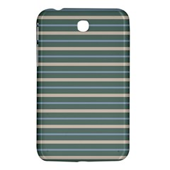 Horizontal Line Grey Blue Samsung Galaxy Tab 3 (7 ) P3200 Hardshell Case  by Mariart