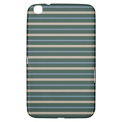 Horizontal Line Grey Blue Samsung Galaxy Tab 3 (8 ) T3100 Hardshell Case  by Mariart