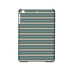 Horizontal Line Grey Blue Ipad Mini 2 Hardshell Cases by Mariart