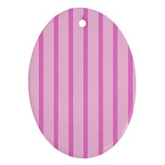 Line Pink Vertical Oval Ornament (two Sides) by Mariart