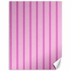 Line Pink Vertical Canvas 12  X 16   by Mariart