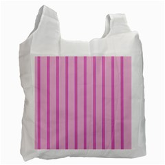 Line Pink Vertical Recycle Bag (two Side)  by Mariart