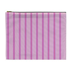 Line Pink Vertical Cosmetic Bag (xl) by Mariart