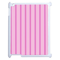Line Pink Vertical Apple Ipad 2 Case (white) by Mariart