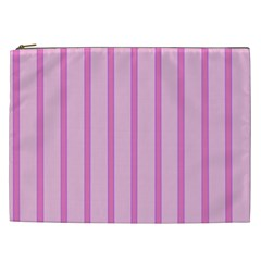Line Pink Vertical Cosmetic Bag (xxl)  by Mariart