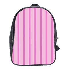 Line Pink Vertical School Bag (xl) by Mariart