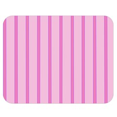 Line Pink Vertical Double Sided Flano Blanket (medium)  by Mariart