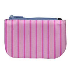 Line Pink Vertical Large Coin Purse by Mariart