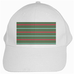 Horizontal Line Red Green White Cap by Mariart