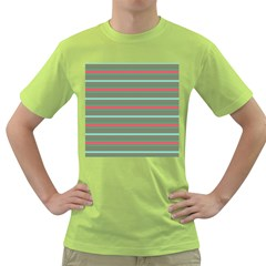 Horizontal Line Red Green Green T Shirt by Mariart