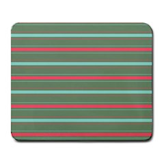 Horizontal Line Red Green Large Mousepads by Mariart
