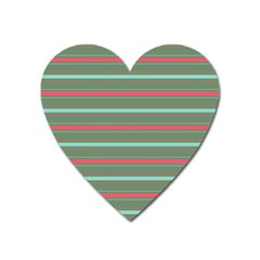 Horizontal Line Red Green Heart Magnet by Mariart