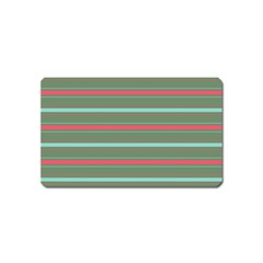Horizontal Line Red Green Magnet (name Card) by Mariart