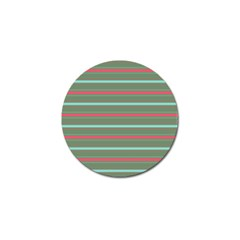 Horizontal Line Red Green Golf Ball Marker (10 Pack) by Mariart