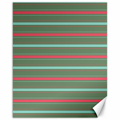 Horizontal Line Red Green Canvas 16  X 20   by Mariart