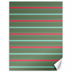 Horizontal Line Red Green Canvas 18  X 24   by Mariart