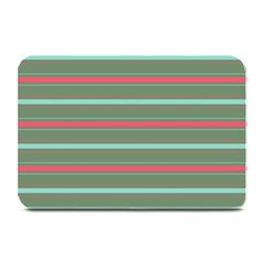 Horizontal Line Red Green Plate Mats by Mariart