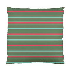 Horizontal Line Red Green Standard Cushion Case (two Sides) by Mariart