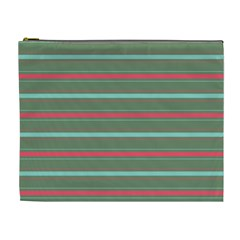 Horizontal Line Red Green Cosmetic Bag (xl) by Mariart