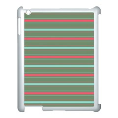 Horizontal Line Red Green Apple Ipad 3/4 Case (white) by Mariart