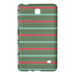 Horizontal Line Red Green Samsung Galaxy Tab 4 (8 ) Hardshell Case  by Mariart