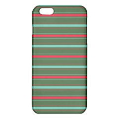 Horizontal Line Red Green Iphone 6 Plus/6s Plus Tpu Case by Mariart