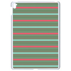 Horizontal Line Red Green Apple Ipad Pro 9 7   White Seamless Case