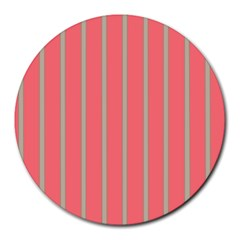 Line Red Grey Vertical Round Mousepads by Mariart