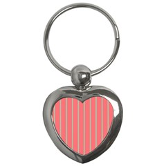 Line Red Grey Vertical Key Chains (heart)