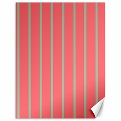 Line Red Grey Vertical Canvas 12  X 16   by Mariart