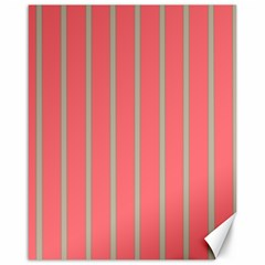 Line Red Grey Vertical Canvas 16  X 20   by Mariart