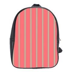 Line Red Grey Vertical School Bag (large)