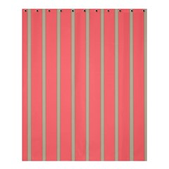 Line Red Grey Vertical Shower Curtain 60  X 72  (medium)  by Mariart