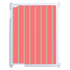 Line Red Grey Vertical Apple Ipad 2 Case (white) by Mariart