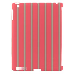 Line Red Grey Vertical Apple Ipad 3/4 Hardshell Case (compatible With Smart Cover) by Mariart