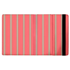 Line Red Grey Vertical Apple Ipad 3/4 Flip Case by Mariart