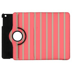 Line Red Grey Vertical Apple Ipad Mini Flip 360 Case by Mariart