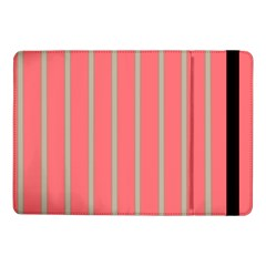 Line Red Grey Vertical Samsung Galaxy Tab Pro 10 1  Flip Case by Mariart
