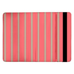 Line Red Grey Vertical Samsung Galaxy Tab Pro 12 2  Flip Case by Mariart