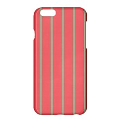 Line Red Grey Vertical Apple Iphone 6 Plus/6s Plus Hardshell Case by Mariart