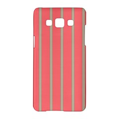 Line Red Grey Vertical Samsung Galaxy A5 Hardshell Case  by Mariart