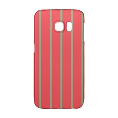 Line Red Grey Vertical Galaxy S6 Edge by Mariart