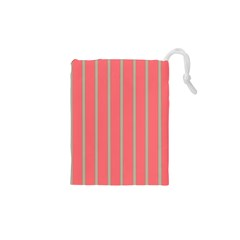 Line Red Grey Vertical Drawstring Pouches (xs)  by Mariart