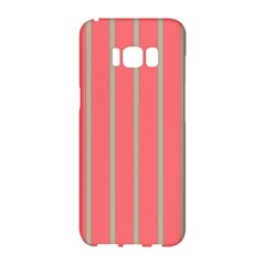 Line Red Grey Vertical Samsung Galaxy S8 Hardshell Case  by Mariart